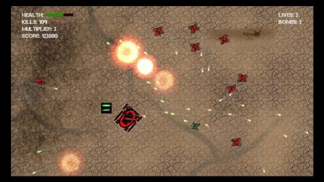 Tank Attack 2D - Screen
