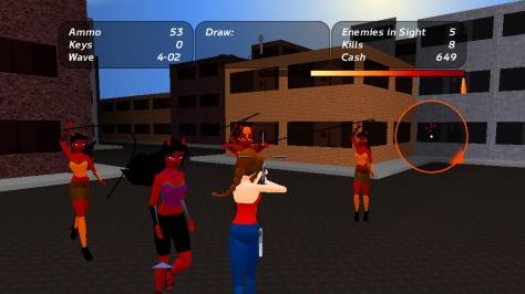 Battle For Demon City - Screen